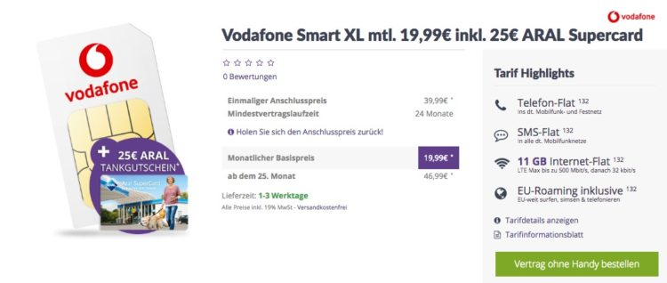 vodafone alles flat 11gb lte als sim only mit top. Black Bedroom Furniture Sets. Home Design Ideas