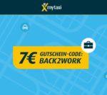 7€ MyTaxi Gutschein - auch für Bestandskunden (bis 23.09.)