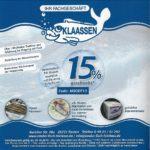 *Bis 20% Rabatt* auf Fischfachgeschäft Klaassen Internet-Seite *ab 50€ MBW*