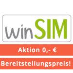 *Verrückt* winSIM: Allnet-Flat + 1GB LTE für 4,99€ / 3GB LTE für 7,99€ + mtl. kündbar + 0,00€ Anschlusspreis! *auch Bestandskunden*