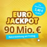 Eurojackpot mit 90 Mio € Jackpot - 5 Tipps für 2,40€ (statt 10,40€) // 1.260 Chancen für 4,90€ (statt 18€) - Lottohelden-Neukunden