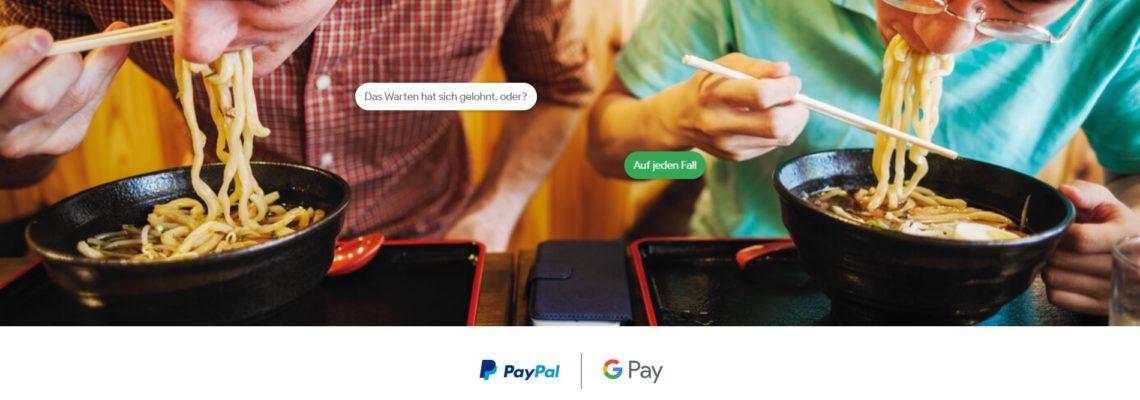 Google Pay und PayPal