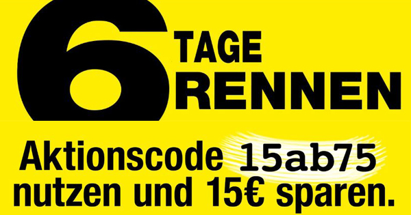 15 Rabatt Beim 6 Tage Rennen Von Galeria Kaufhof