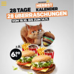 McDonald's Herbstkalender - 28 Überraschungen *18.10.-14.11.* - 9er Chicken McNuggets nur 1,50€