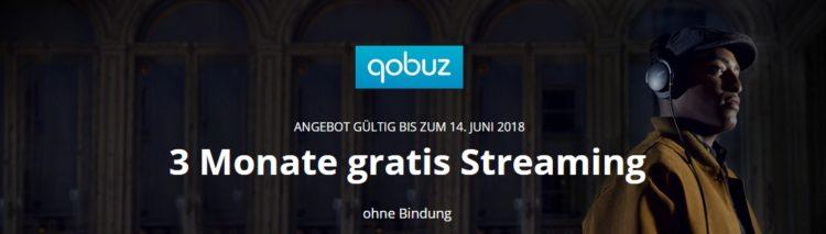 Testen Sie Qobuz 3 Monate kostenlos