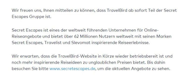 TravelBird Secret Escapes
