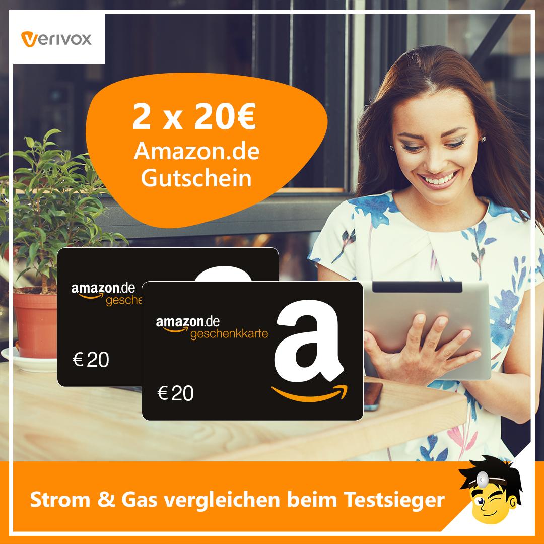 2a1f30e8a1c9e6 🔌 Verivox  20€ Amazon Gutschein für Strom und Gas