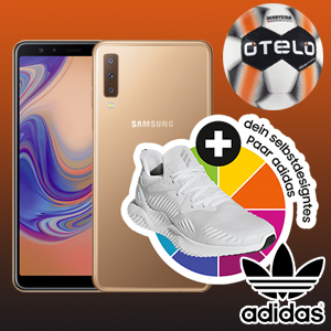 handyflash otelo fan-tarif samsung galaxy a7 adidas gutschein derbystar fussball titelbild