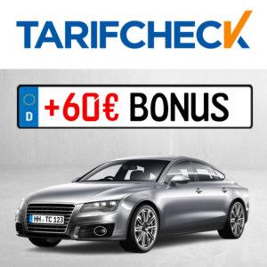 tarifcheck kfz versicherung 60 euro bonus gutschein