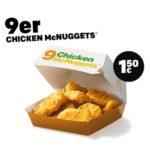 McDonald's Herbstkalender - 28 Überraschungen: 9er Chicken McNuggets nur 1,50€ (Aktion bis 14.11.)