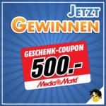 Gewinnspiel: 500€ MediaMarkt Gutschein mit DealDoktor Whatsapp