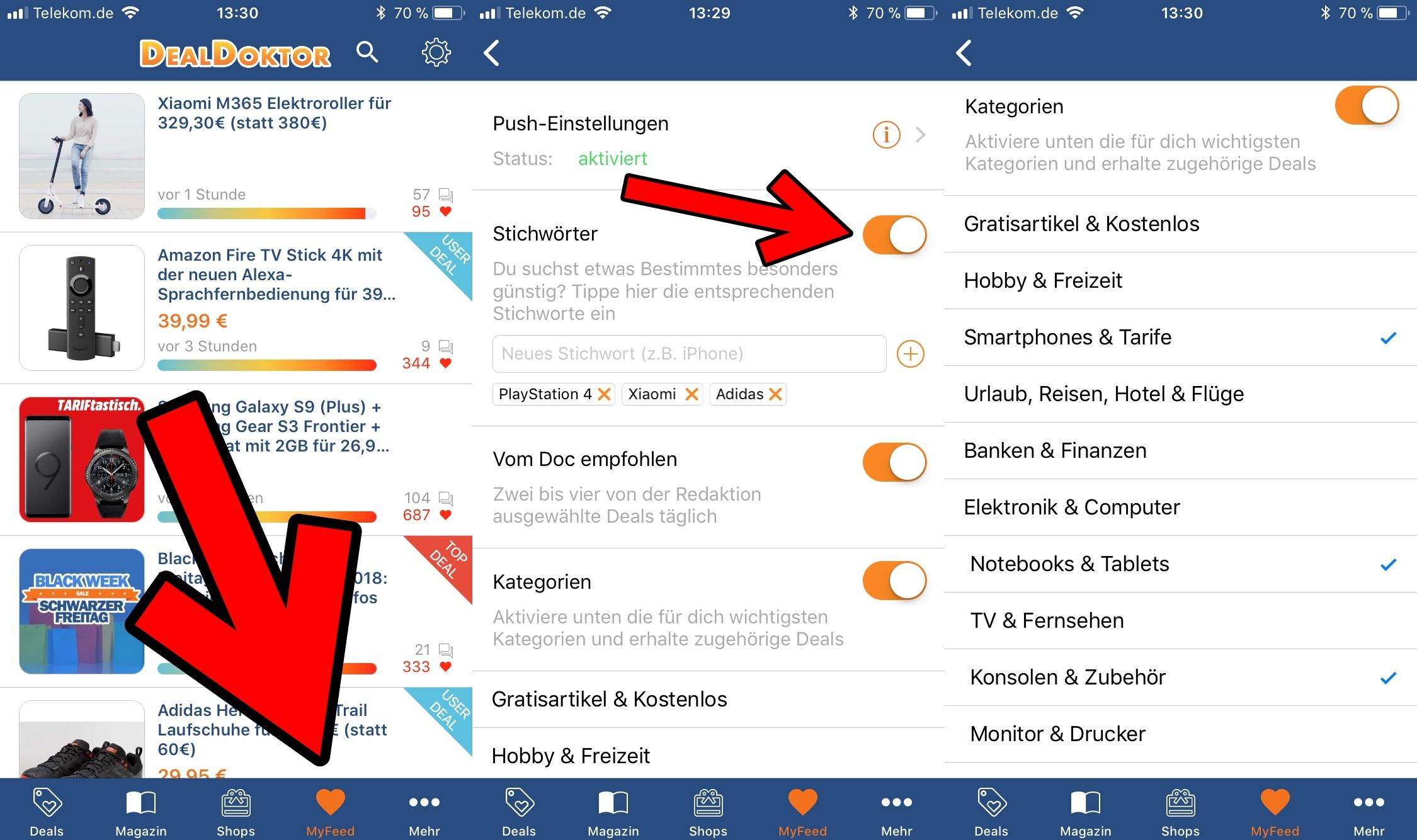 DealDoktor MyFeed iOS App