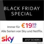 Sky Black Friday: Sky und Netflix immer für 19,99€/Monat