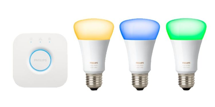 MediaMarkt: 3 bunte E27 Lampen mit Bridge für nur 86,75 Euro