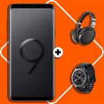 *150€ Ersparnis + Tarif eff. gratis*: Galaxy S9 Plus + Gear S3 Frontier + Sennheiser HD 4.50 mit Allnet-Flat + 8GB im Telekom-Netz (für 31,99€/Monat) // uvm