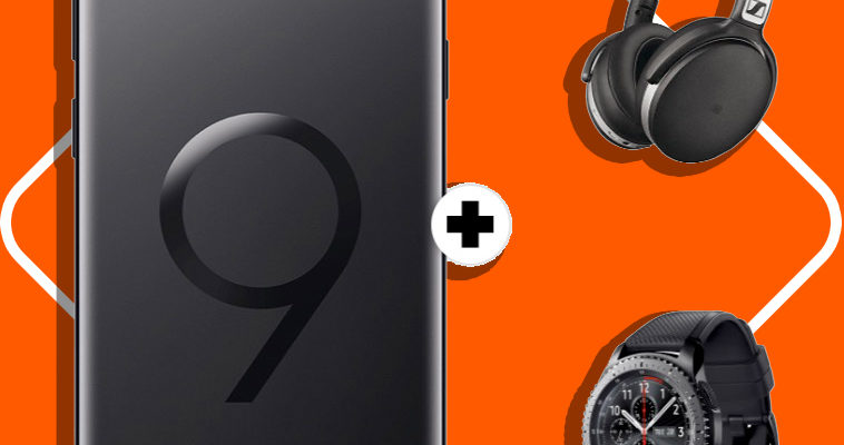 SAMSUNG Galaxy S9+ Dual-SIM & Sennheiser HD 4.50 & Samsung Galaxy Gear S3 frontier MD real Allnet Aktion Titelbild