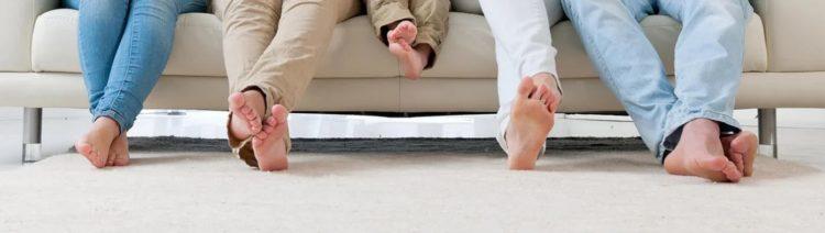 Teppich und Füße