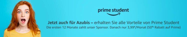 Amazon Prime Student Azubi banner