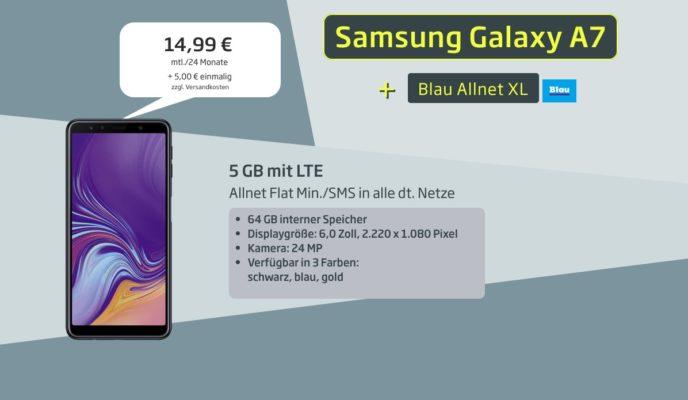 Blau O2 Alles Flat 5gb Lte Für 1499monat Samsung Galaxy A7