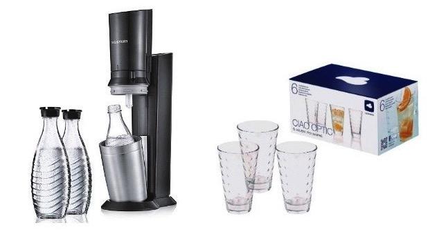 sodastream crystal 2 0 mit glaskaraffe 1 zylinder f r 74 99. Black Bedroom Furniture Sets. Home Design Ideas