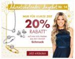 Tagesangebot bei Galeria Kaufhof: 20% Rabatt aufSchmuck.