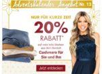 Galeria Kaufhof Adventskalender: 20% Rabatt auf Marken aus Kaschmir für Sie und ihn