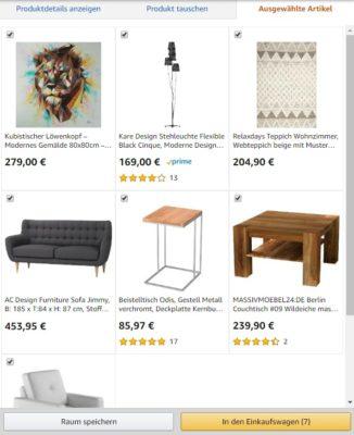 Amazon Showroom Produkte