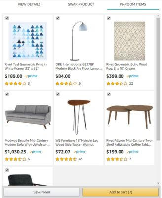 Amazon Showroom Raum kaufen oder speichern