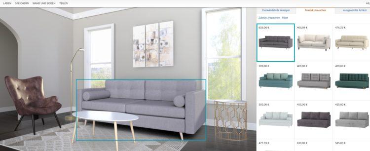 Amazon Showroom Sofa tauschen