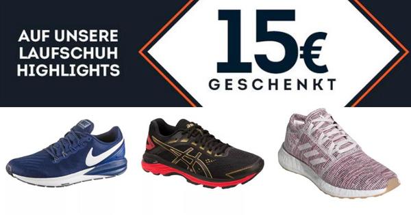 SportScheck: 15€ Rabatt auf Laufschuhe
