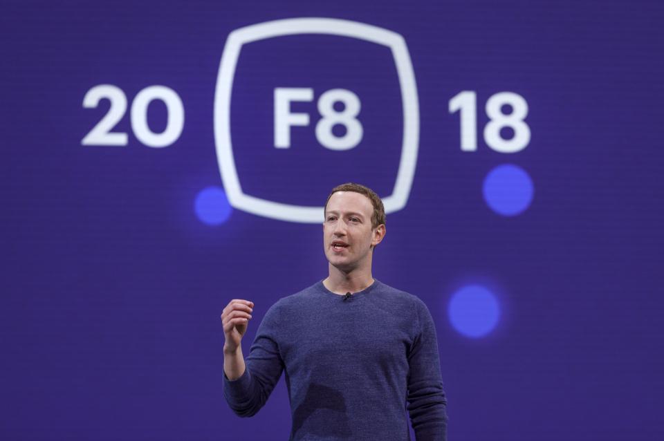 Mark Zuckerberg Facebook F8