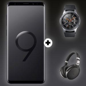 SAMSUNG Galaxy S9+ Dual-SIM & Samsung Galaxy Watch 46mm BT & Sennheiser HD 4.50 Titelbild