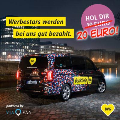 BVG Berlkönig Gutschein: 20 Euro Guthaben durch Freunde Werben