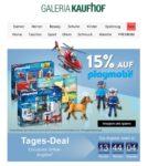 Tagesdeal bei Galeria Kaufhof: 15% Rabatt auf Playmobil