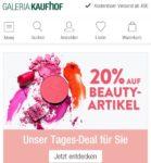 Tagesdeal bei Galeria Kaufhof: 20% auf Beautyartikel sparen