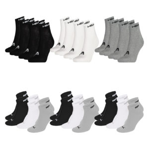 18er Set Socken Puma Head