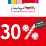 Ernsting's Family: 30% Rabatt auf alle bereits reduzierten Artikel