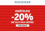 Schiesser: 50% Sale + 20% Extra-Gutschein auf alle Sale-Artikel