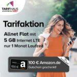 Tarifhaus 5GB LTE mit 100€ Amazon-Gutschein Titelbild