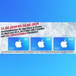 Rewe: iTunes Guthaben mit 15% Zusatzguthaben kaufen