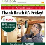 10% Sofort-Rabatt auf Bosch-Artikel bei Voelkner.de