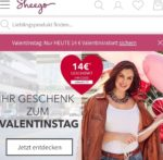 Sheego: noch bis Samstag 14€ Valentinstagsrabatt sichern bei einem Einkauf ab 50€