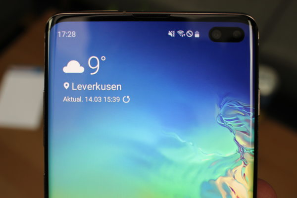 Galaxy S10+ Display oben