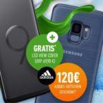 Blau (o2): Alles-Flat + 5GB LTE für 19,99€/Monat + Samsung Galaxy S9 für 59€ + Original View Cover + 120€ adidas-Gutschein (u.v.m.)