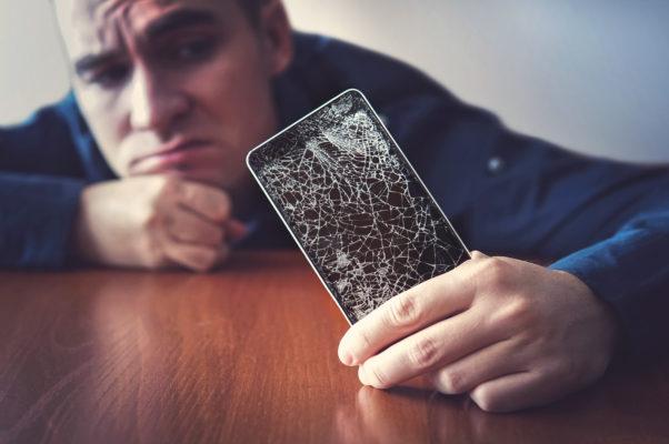 Smartphone Bildschirm Bruch