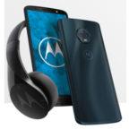 Motorola-Smartphone+Kopfhöer