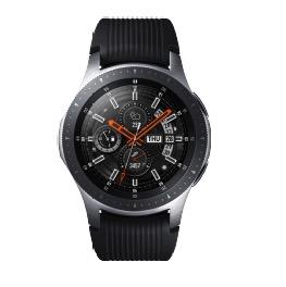 SAMSUNG Galaxy Watch 46 mm LTE, Smartwatch, Silikon, S, L, Silber