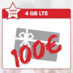 *Eff. kostenlos* 100€ Shopping-Gutschein zur Alles-Flat + 4GB LTE für 14,99€/Monat - Tarifhaus