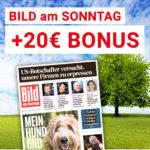"BamS: 5x ""Bild am Sonntag"" für 11,50€ + 20€ Bonus (Abstauber-Deal)"