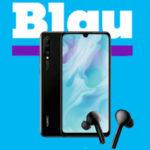 Huawei P30 lite für 1€ + GRATIS Freebuds Lite + Alles-Flat + 5GB LTE für 18,99€/Monat von Blau (o2)